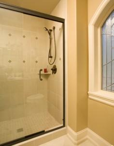 Semi Frameless Showers Sliding Shower Doors Aspen Glass